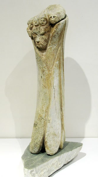 Ice Spirits (Lee Baker), 2012: Whale bone, soapstone. $5,000