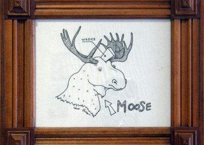 Hosaluk: Moose with Wedge - 2013, Paper. $300