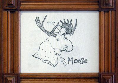 Hosaluk: Moose with Wedge - 2013, Paper. $300