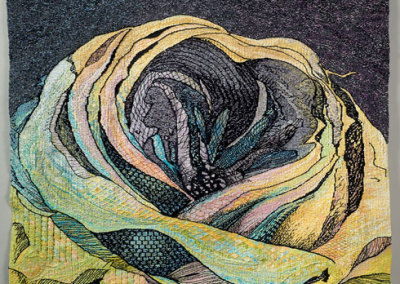 JacQueline Keller: Bloom, 2012. Handwoven tapestry, $8,500.