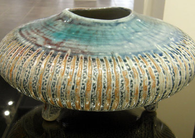 Vessel 16 (Mel Bolen), 2013: Salt glazed stoneware. Collection of Gary & Brenda Freistadt