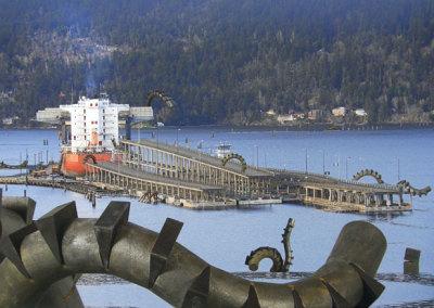 Grant Kernan, Mike Hosaluk & Trent Watts: A Pipeline to Everywhere on the Port Hood Bridge to Nowhere - Photo Grant Kernan - 2013. $300