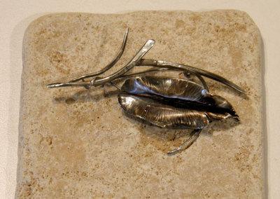 Forge & Fold Formed Brooch #2, Megan J. Hazel, 2011, Sterling silver