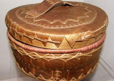 Round Birch Bark Basket - Flora Weenosis