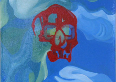 Kairos Memoria (Michel Boutin) 2012: Enamel on canvas. Collection of The Mann Art Gallery.