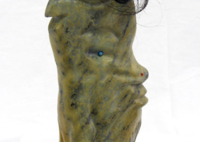Untitled (Louise Halfe) 2013: Soapstone. $3,500.