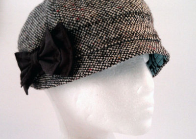 Ladies Cloche Hat - Wool Blend with Bow