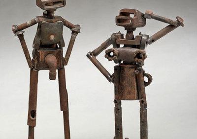 Kyle Hodgson: Robot - Nude Female #3, 2013. Found metal sculpture, $250 NFS. Kyle Hodgson: Robot - Nude Male #1, 2011. Found metal sculpture, $250 NFS.
