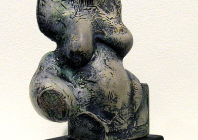 Adrian Golban, Abstract Torso: Unglazed porcelain, wood; hand modeling, fired. 2011, $1,200.