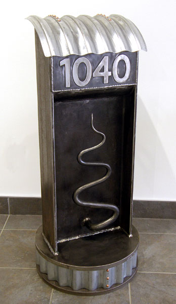 You Have Mail! (M. Craig Campbell), 2013: Steel, copper, galvanized steel; forged and fabricated. Private Collection
