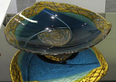 Moonlight Perch (Lee Brady), 2011: Glass; fused, silverstain, kiln formed. $2,300