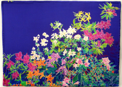 Azalea Light Panel, 2012. LED Light panel, ink-jet printed silk satin, velcro, $1,300.