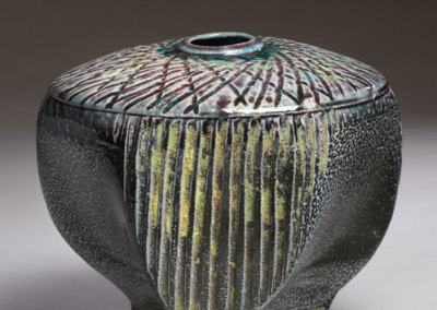 Mel Bolen, Blair's Surprise, 2010 - stoneware clay, terra sigillata, stains/oxides, glaze; thrown, altered, carved