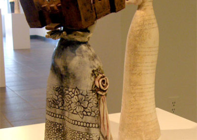Traditions - Deborah Potter (clay, underglaze, and sheet copper)
