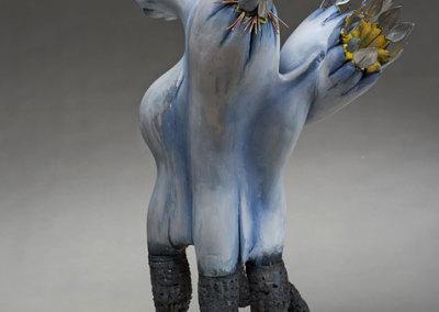 Max Himsl: Cave Canum, 2013. 3-dimensional, freestanding, vegiform, mixed media, $1,600.