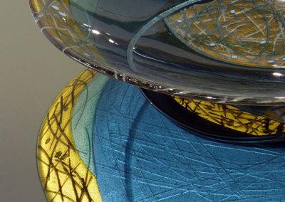 Moonlight Perch - detail (Lee Brady), 2011: Glass; fused, silverstain, kiln formed. $2,300