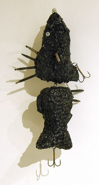 Brenda Baker, Madison, WI - Bait, 2012. Mixed media, $250