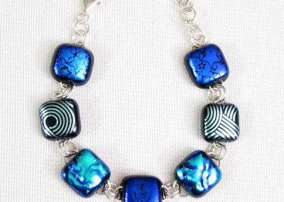 Chroma Dichrac Bracelet: Jill Nicholson, Dichronic Glass, Stirling Silver