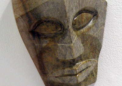 Stone Mask (M. Craig Campbell), 2013: Soapstone, paste wax; carved. NFS
