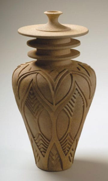 Carved Pot with Lid - Gail Carlson