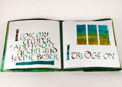 Difficulty (Thea Lynn Paul), 2013: Calligraphy. PRIZE (Papetrie St. Armand)