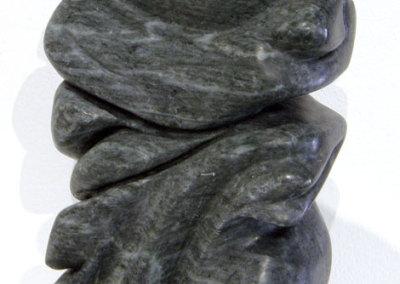 Linda J. Leslie, Watchfull: Soapstone; carving, sanding. 2012, NFS.