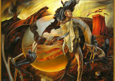 Battle Cry (Iris Hauser), 2008: Oil on canvas. $3,900