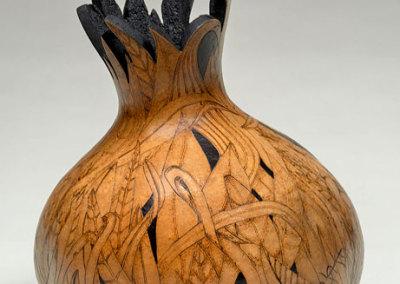 Julie-Anne Wallewein: Hiding, 2013. Gourd vase, $250.