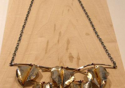 Forge & Fold Formed Leaf Neckpiece, Megan J. Hazel, 2011, Sterling silver