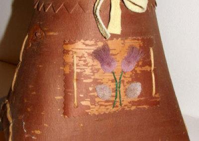 Small Lidded Birch Bark Basket - Julie Wasplcolin