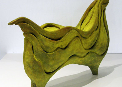 Undulatio (Paula Cooley), 2013: Clay, glaze; hand built. $900