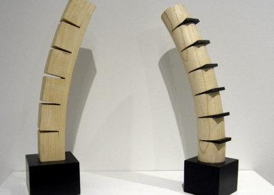 Hosaluk: Tower - 2013, Ash, steel, yellow cedar. $650 each