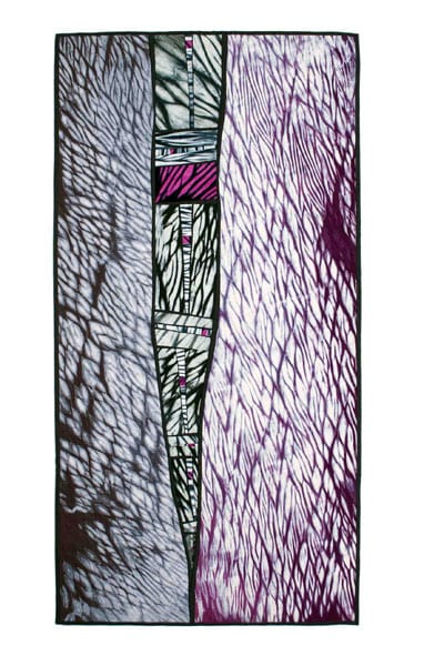Fractured Ice, 2010 - Margie Davidson - Hand-dyed cotton fabric, commercial cotton, cotton and rayon threads, $900