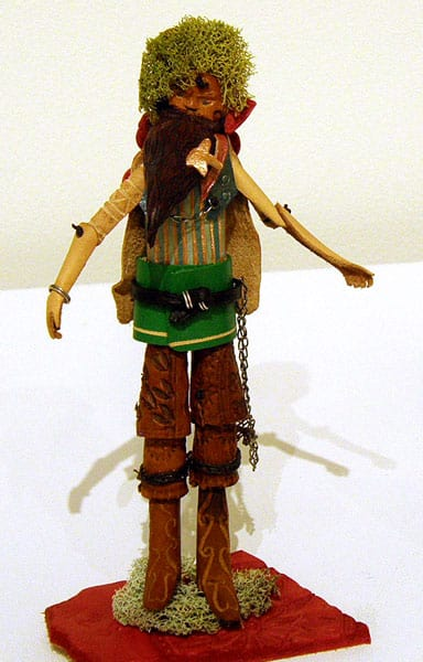 Kara Ginther, Colombus, WI - Dance Fool, 2012. Leather, dyes, pigments, $800