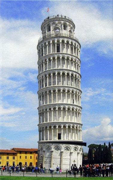 Hosaluk (collaboration, Grant Kernan): Taking the Lean Out of Pisa - 2013, Internet photo. $175