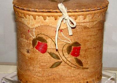 Oval Lidded Birch Bark Basket - Mary Kotchea