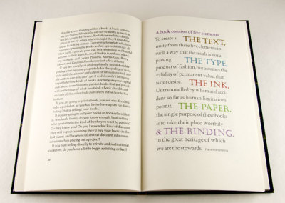 Pressing Matters (William Rueter), 2012: Fine Printing. PRIZE (Ontario Craft Council)