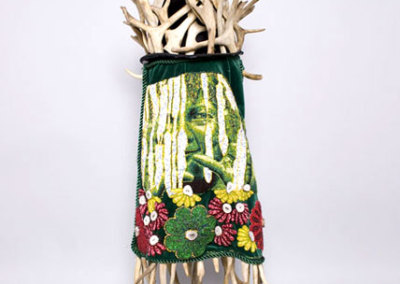 Caribou Woman: Madre Primavera, 2009 - Teresa Burrows - Hat with caribou antlers, beaded veil, $10,000