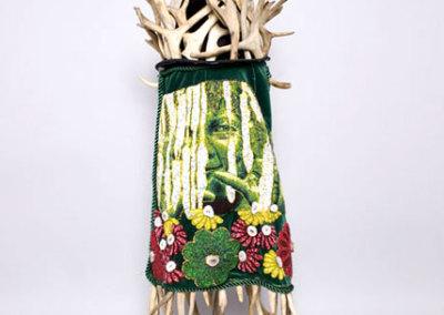 Caribou Woman: Madre Primavera, 2009 - Teresa Burrows - Hat with caribou antlers, beaded veil, $10,000