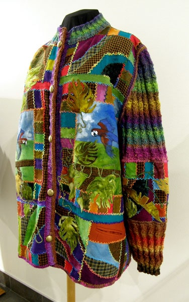 Cindy Hoppe, Tropicana: Recycled wool suiting, yarn; over drying, machine.