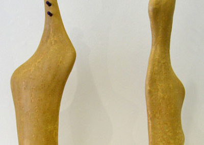 Duet (Paula Cooley), 2013: Clay, underglaze, glaze; hand built. $700