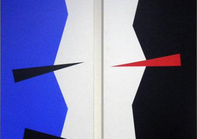 Hosaluk: Prairie Landscape (Night & Day) - 2013, Wood, acrylic. $1,200 (diptych)