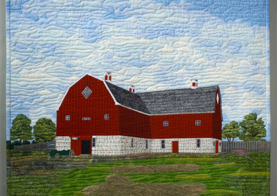 Elizabeth M. Cuming: Motherwell Homestead Barn, 2011. Original Art Quilt, $1,000.