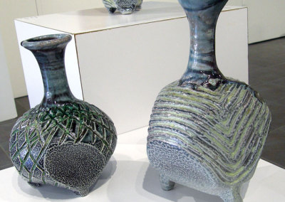 Vessel 3 (Mel Bolen), 2013: Salt glazed stoneware. $850, Vessel 4 (Mel Bolen), 2013: Salt glazed stoneware. $750