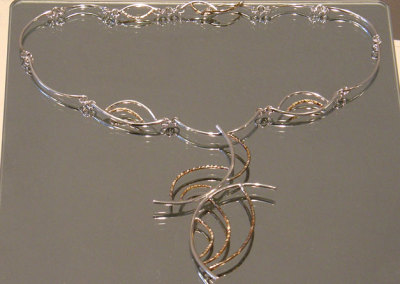 Neckpiece (detail), Megan J. Hazel, 2011, Sterling silver