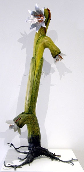 Max Himsl, Infectionate: Oil paint, wood, steel, copper, aluminum; carving, shaping, joining, painting. 2012, $1,000.