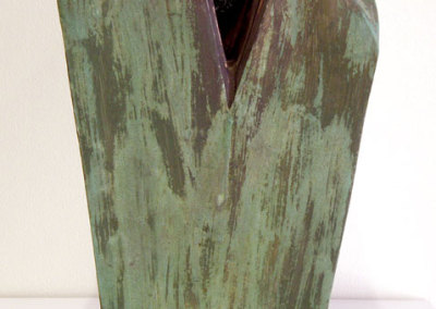 Is That All There is?...... (Charley Farrero), 1992-1993: Stoneware, plastic trees, acrylic paint. $500