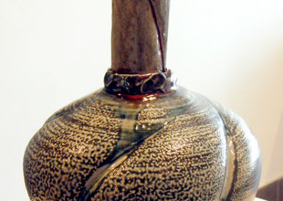 Salt Fired Vase: Mel Bolen, Clay, glazes, salt