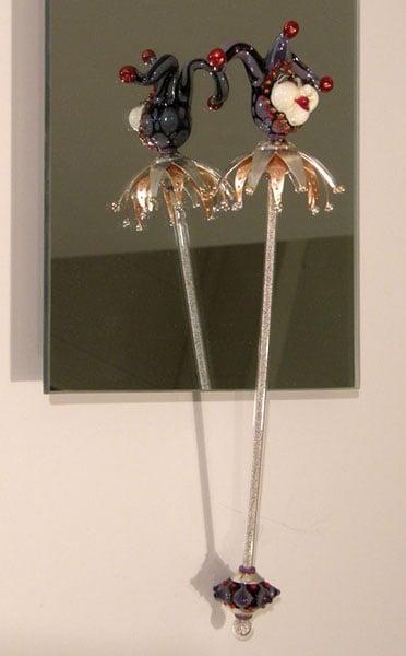 A Fool's Magic, Shauna Mitru, 2011, Borosilicate glass, soda lime glass, sterling silver, copper & 14k gold