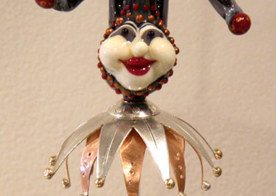 A Fool's Magic (detail), Shauna Mitru, 2011, Borosilicate glass, soda lime glass, sterling silver, copper & 14k gold